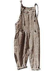 Bidobibo Womens Jumpsuit Dressy Striped Overalls Romper with Pockets Sleeveless Wide Leg Jumpsuits for Women Casual