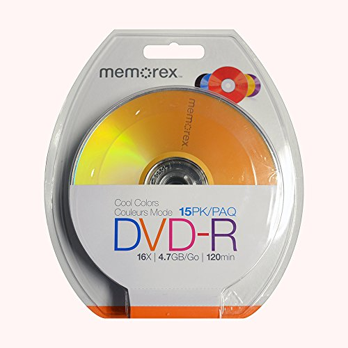 Price comparison product image PNY Trendy Memorex 4.7GB 16X DVD-R 15 Pack Blister Cool Colors (32020019223)