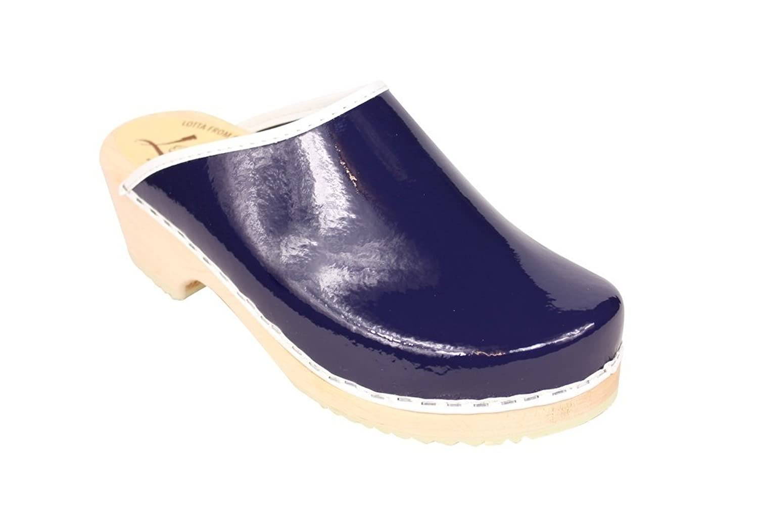 hot sale 2017 Lotta From Stockholm Classic Retro Patent Clog in Blue
