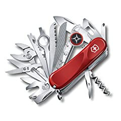 """ICONIC EVOLUTION  Embrace change with the 3.3"""" Evolution S54 pocket knife. Featuring 31 tools, stainless steel construction, and Swiss-Made precision, this new take on our iconic classic gives you the perfect grip and tools for easy, quick fi..."""