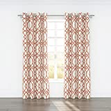 Stylemaster Home Products Colorfly Piper Grommet Panel Pair, 2 by 54 by 84-Inch, Coral