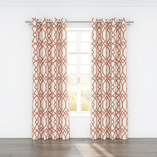 Stylemaster Home Products Colorfly Piper Grommet Panel Pair, 2 by 54 by 84-Inch, Coral by Style Master