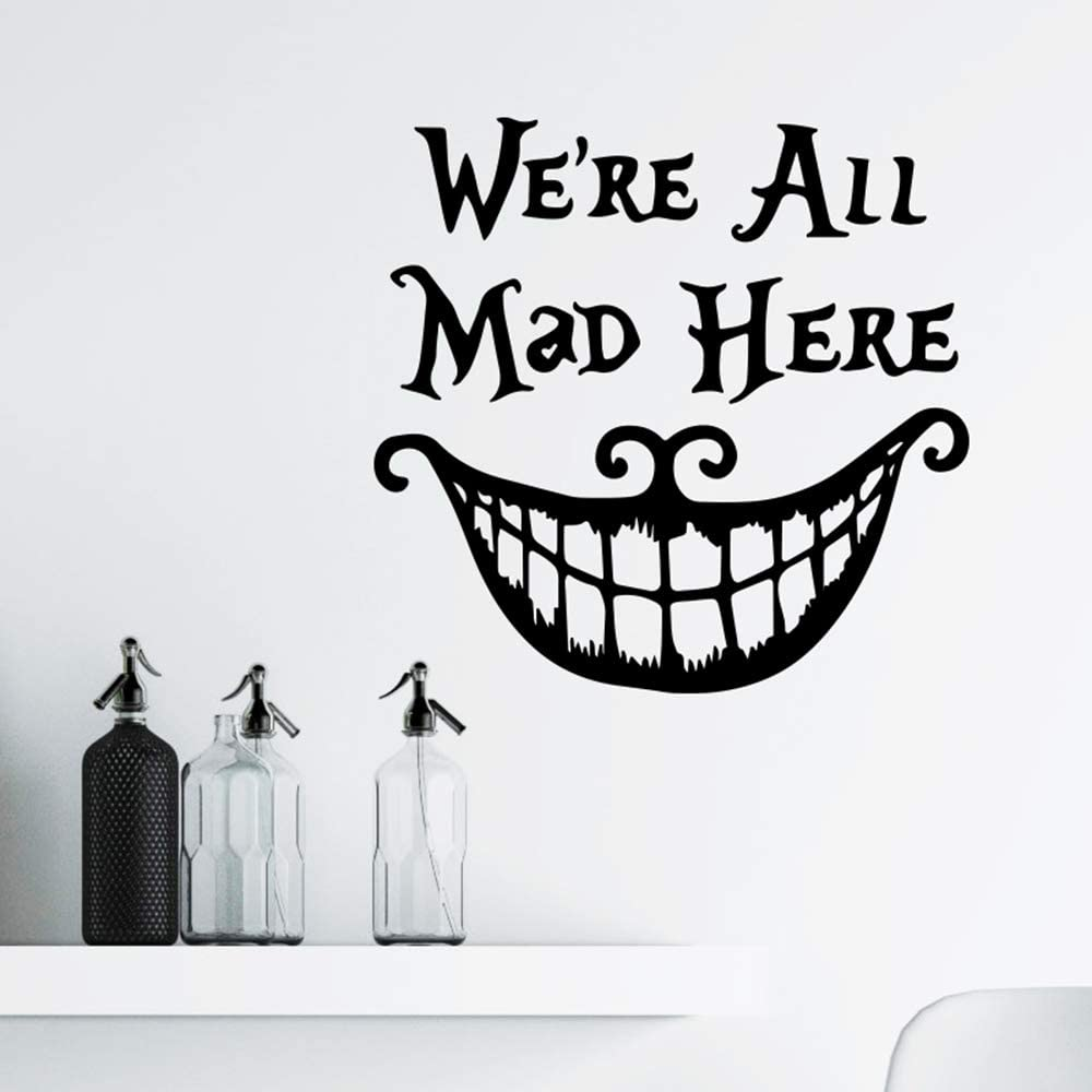 Tinfun Halloween 'Smiling Face' Thriller Wall Stickers Decoration Trick Game Bedroom Wall Decal Removable Vinyl Home Decor Bar Stickers