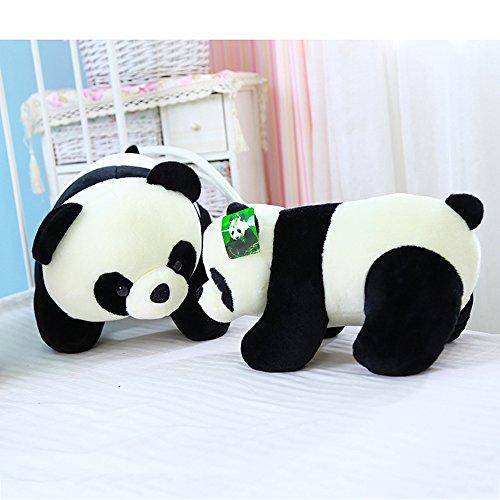 [Cute Plush Stuffed Animal Doll Push Pull Panda Bear Plush Pillow] (Pizza Delivery Man Costume)