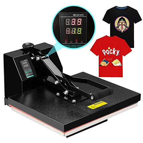 SUNCOO 4 in 1 Heat Press Machine Digital Sublimation Heat Pressing Transfer Machine for T-Shirt/Mug/Hat Plate/Cap 16 x 14