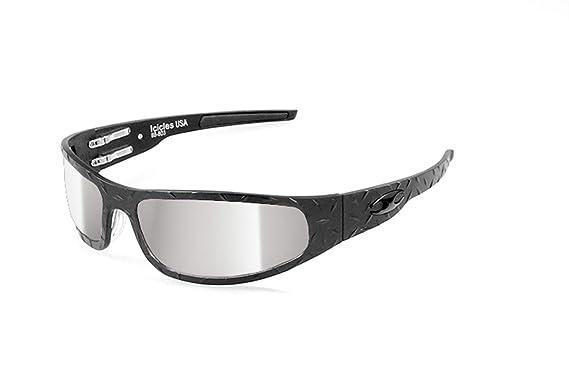 Amazon.com: ICICLES - Gafas de sol con espejo plateado y ...
