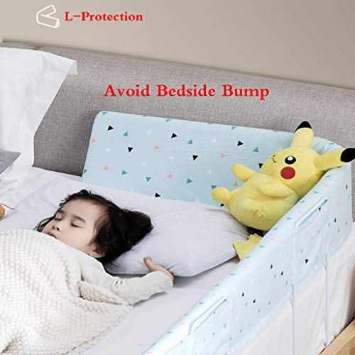 Bed Rail Bumper for Toddlers Kids & Baby Safety Sleep Bed Guard Rail High Rebound Sponge Toddler Bed Rail Bumper Guard Kids' Bed Safety Rail by SONGTING Guardrail (Image #4)