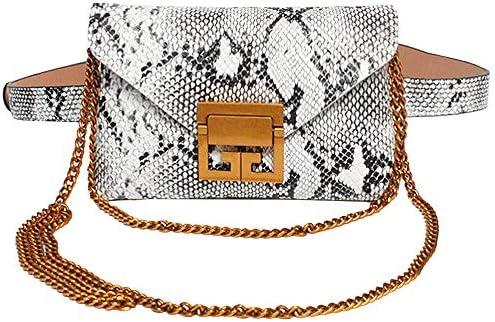 9b2e15d33f81 Van Caro Womens Small Snakeskin Fanny Pack Waist Phone Pouch Travel ...