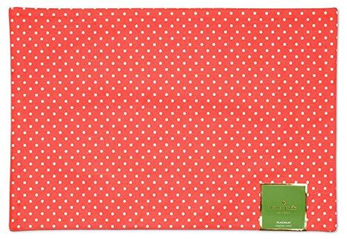 Kate Spade Emporia Street Polka Dot Reversible One Placemat Vivd Snapdragon Pink/Coral13 x 19