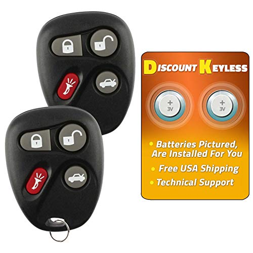 - Discount Keyless Replacement Key Fob Car Remote Compatible with KOBLEAR1XT, 25695954, 25695955 (2 Pack)