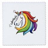 3dRose Sven Herkenrath Animal - Funny Fantasy Unicorn with Rainbow Fabulous - 16x16 inch quilt square (qs_280357_6)