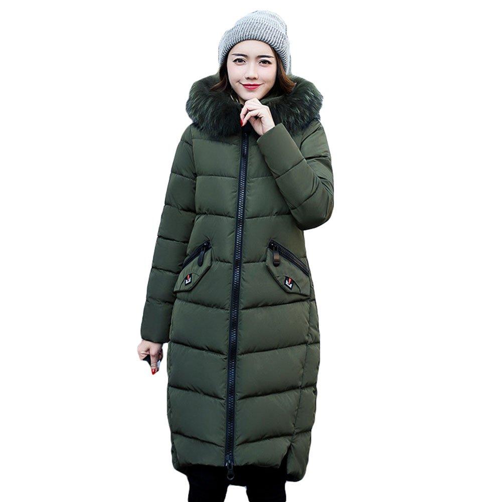 Women's Long Down Coat Padded Jacket - Ladies Parka Hooded Coat Winter Casual Outwear Highdas T170927W1