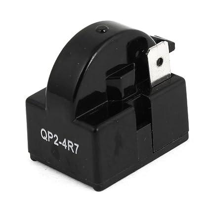 uxcell 4.7 Ohm 1 Pin Refrigerator PTC Starter Relay Black on