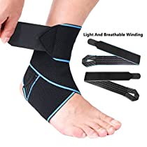 Ankle Brace, Giwil Adjustable Ankle Support Breathable Nylon Material Super Elastic and Comfortable One Size Fits all, Protects Against Chronic Ankle Strain,Sprains Fatigue for Basketball,Running for Women, Men, Kids