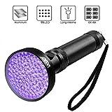 Wsky UV Flashlight Blacklight UV Lights, 99 LEDs 395nm Ultraviolet Black Lights Pet Urine Stains Detector, Bed Bug, Scorpion Hunting(Battery Not Included)