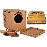 Kitty Kan Traveler Quality Enclosed Disposable Litter Box with Scoops and a Bonus Cat Bed