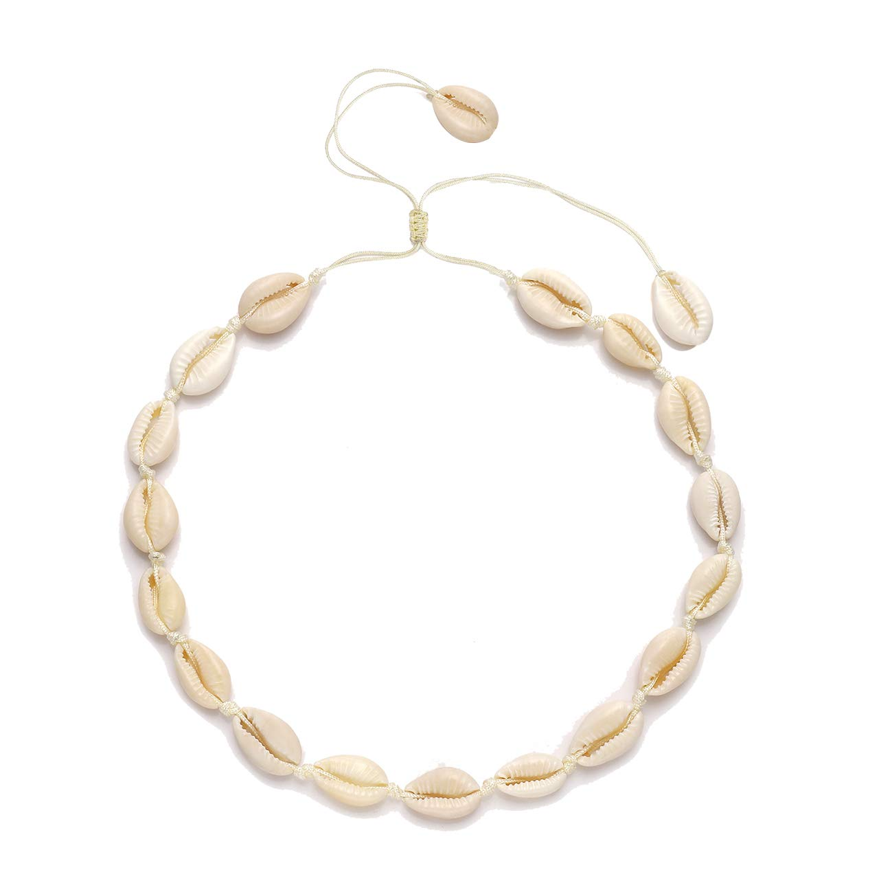 CENAPOG Cowrie Shell Choker Necklace for Women Puka Shell Necklace Corded Seashell Necklace Hawaiian Beach Jewelry by CENAPOG