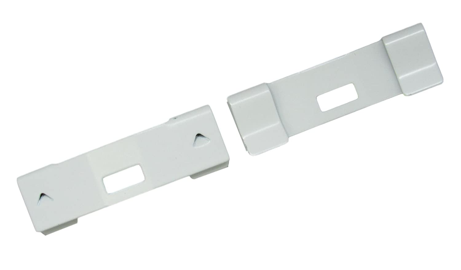 25 Pack VERTICAL BLIND Vane Saver ~ White Curved Repair Clips ~ Fixes Broken Holes Amazing Drapery Hardware 25 White Vane Savers