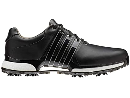 best sneakers 84b65 fc284 adidas Golf 2019 Tour 360 XT Mens Waterproof Spiked Leather Golf Shoes  Black Black