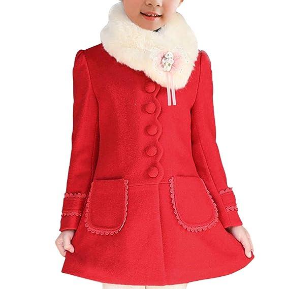 detailed look 9fedd c5728 OCHENTA - Cappotto - ragazza: Amazon.it: Abbigliamento