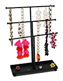 ARAD Metal Jewelry Tree, Holder Organizer-Hanging Jewelry Display for Necklaces, Bracelets, Rings & Piercings