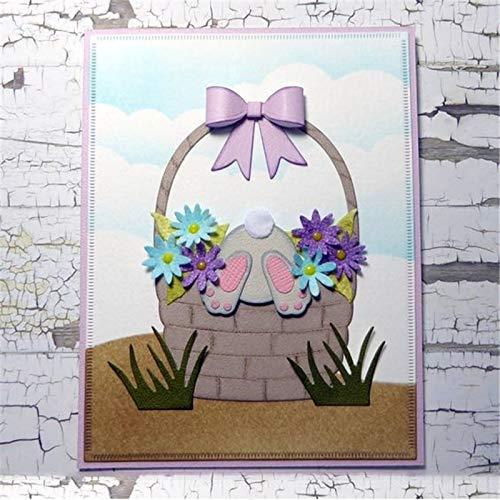 - Easter Bunny Basket Flower Metal Cut Cutting Dies Mold Tool New 2019 for Craft Scrapbooking Scrapbook Album Embossing Handmade DIY Card Decor