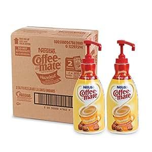 NESTLE COFFEE-MATE Coffee Creamer, Hazelnut, 1.5L liquid pump bottle, Pack of 2
