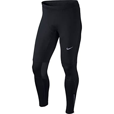 Men's Nike Dri-FIT Essential Running Tights Black/Reflective Silver Size  X-Large