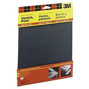 3M Wetordry Sandpaper, 9-Inch by 11-Inch, Super Fine 400 Grit, 5-Sheet - 9085NA