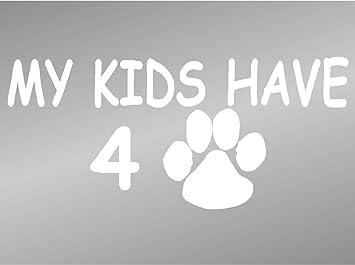 Meine Kinder Haben 4 Pfoten Katze Hund Lover Aufkleber Auto