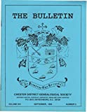 The Bulletin, Chester District Genealogical Society (South Carolina) Volume XVI September 1992 Number 3 Joseph Pardue, Dr G a Blake Gore-sanders Connection, Sarah Clark Eatman Bennett, Bull Run & Rocky Creek, the Last Confederates Live in Brazil