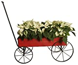Wald Imports 70053 Small Red Distressed Metal Display Wagon