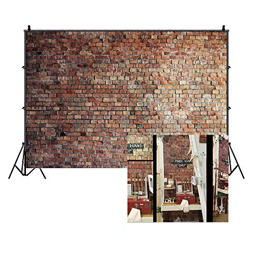 Brick Scene Setter - LFEEY 10x8ft Vintage Red Brick Wall