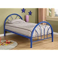Coaster 2389N Contemporary Twin Bed, Blue