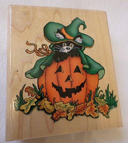 Inkadinkado Pumpkin - Halloween Pumpkin Jackie Frerichs Design Wood Mounted Rubber Stamp #9546