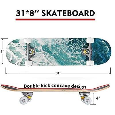 Gold Indigo Malachite Marble Outdoor Skateboard 31