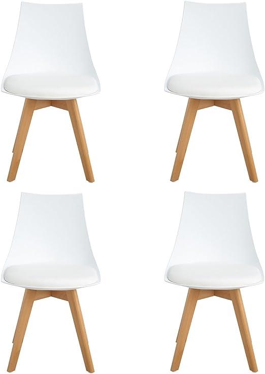 Ajie Set von 4 Stühle 52x48x82cm Trend skandinavischen Retro