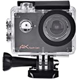 Acouto HD 4k 16P 2 Inch 170°Wide Angle Wifi Action Camera Sport Camera 30m underwater Camcorder DV Recorder with Waterproof Case Accessories Kit