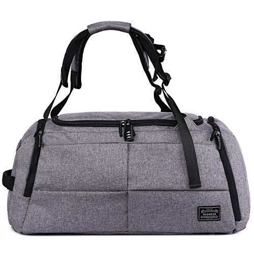 Gym Duffle Bags Canvas Travel Duffel Backpack Luggage Weekender Tote  Shoulder Bag for Women and Men b4ac2ab525