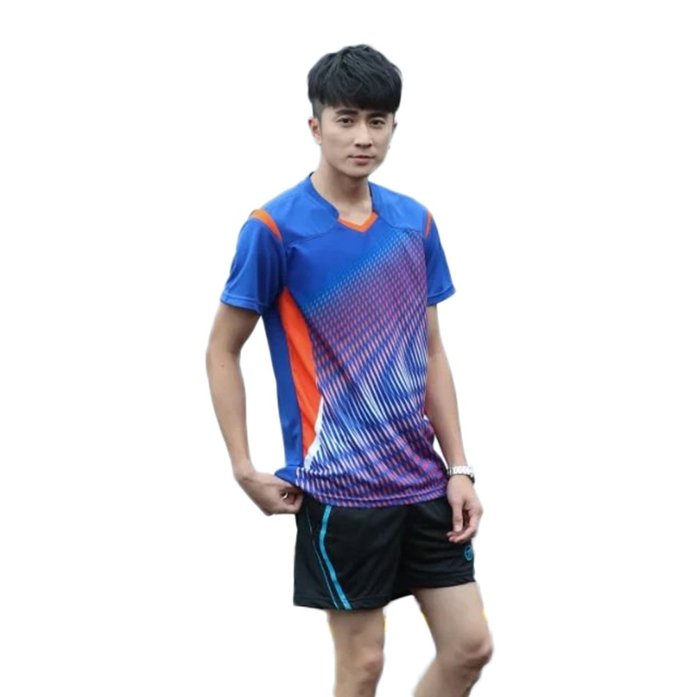 Lanbaosi Men's Sports Jerseys T-Shirts and Shorts Two Pics Set for Volleyball Tennis SL382M