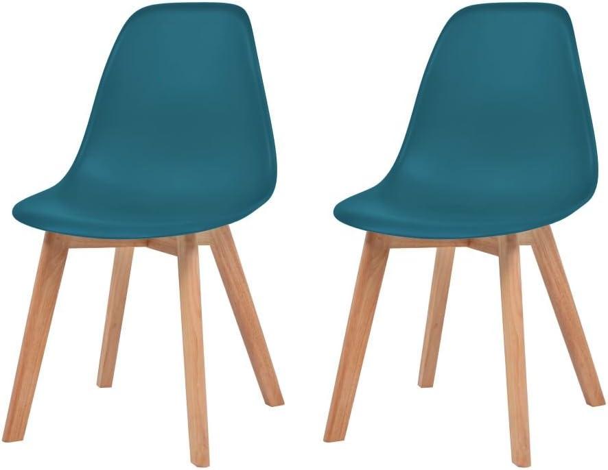 Festnight 2 pcs Chaise de Salle à Manger Chaise Design Moderne Turquoise