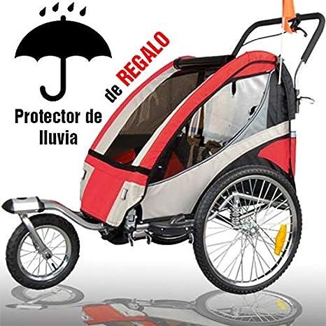 RBO Remolque de Bicicleta para niños Urban, biplaza, Plegado ...