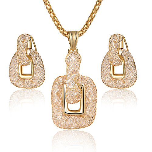 Gold Square Jewelry Set - 8