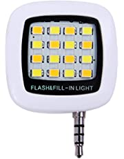 Sungpunet 3,5 Millimetri Fill Flash Light Luce Portatile Mini Phone LED Plug Smartphone Selfie LED Macchina Fotografica del Cellulare Video Lampada di Notte White (Batteria Inclusa)