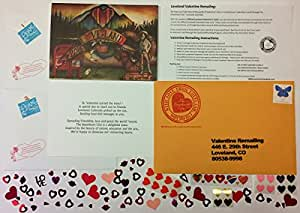 2018 Official Loveland Valentines Card Remailing Kit with 2 Cards (2)