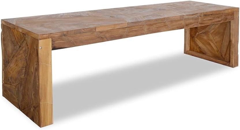 Vidaxl Teak Tv Schrank Erosion Fernsehtisch Fernsehschrank Lowboard Tv Möbel Tisch Board Sideboard Hifi Schrank Anrichte 120x35x35cm Küche Haushalt