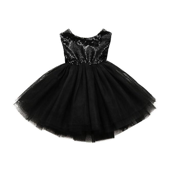 Amazon.com: Vestido de cumpleaños para bebé, con lentejuelas ...