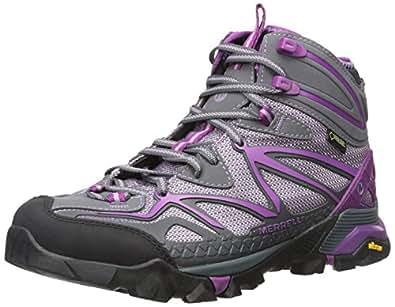 Merrell Women's Capra Sport Mid Gore-Tex Hiking Boot, Purple, 6 M US