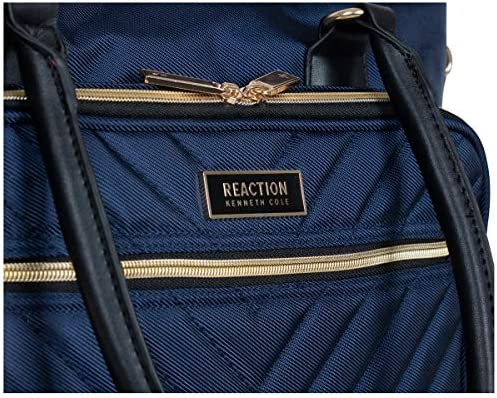 """Kenneth Cole Reaction Chelsea Quilted Chevron 15"""" Laptop & Tablet Business Tote With Removeable Shoulder Strap, Navy"""