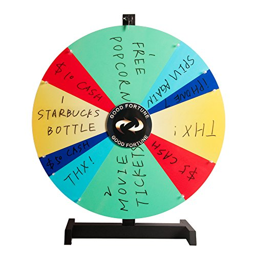 Witlucky Tabletop Spinning Prize Wheel Spin to Win Wheel Game 14